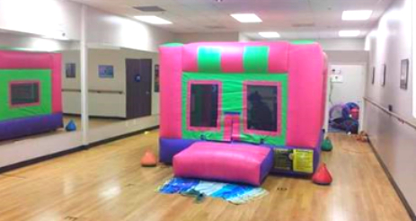 indoor pink bounce